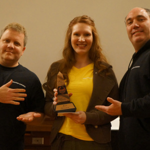 Mara Katria Wins Best Director at Wilson Horror Film Fest (Chris Di Cesare, Mara Katria, William J. Edwards)